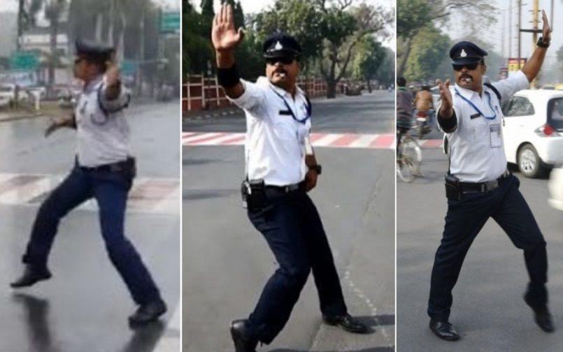 Indore traffic cop moonwalk