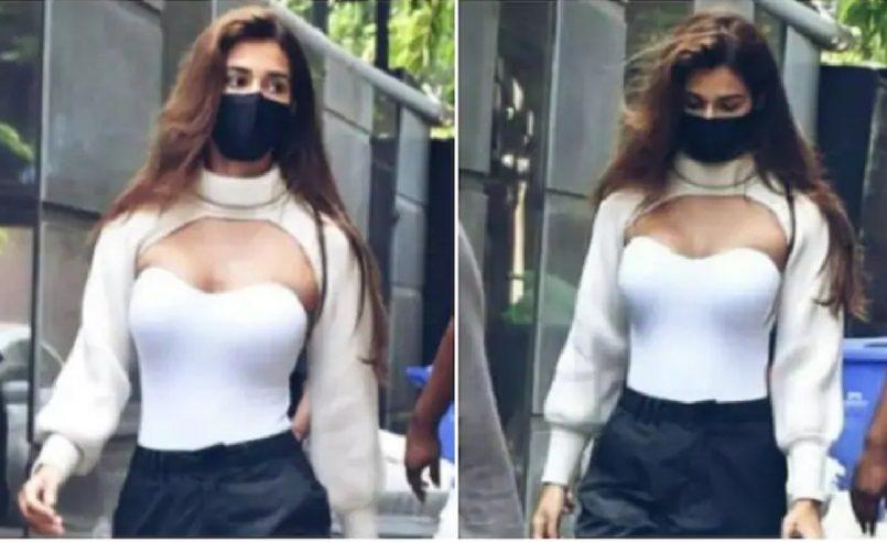 Disha Patani in Zara's viral Rs 1790 arm warmer. (Photos: Disha Patani fan club)