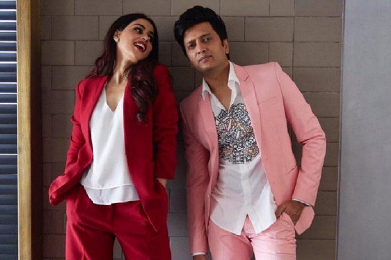 Genelia D'Souza with husband Riteish Deshmukh