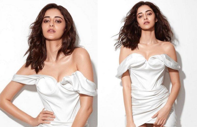 Ananya Panday in white dress