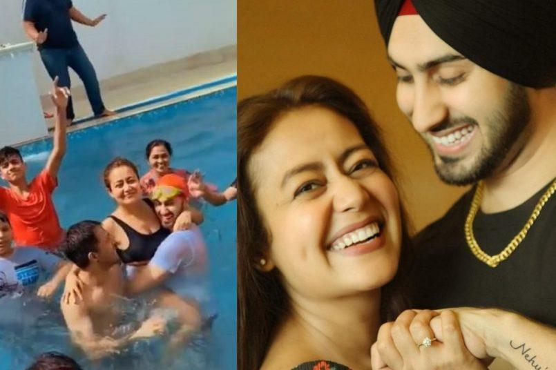 Neha Kakkar-Rohanpreet Singh host pool party ahead of Holi