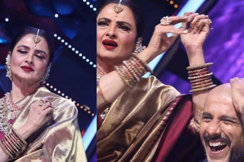 Rekha appears on Indian Idol 12, surprises Vishal Dadlani