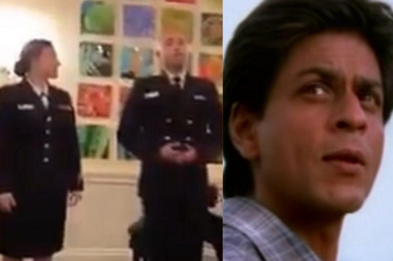 Shah Rukh Khan reacts to US Navy officer singing Ye Jo Desh Hai Tera