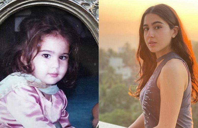 Sara Ali Khan looks cute in childhood pic shared by Saba Ali Khan