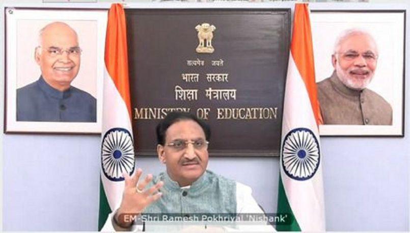 Education Minister Ramesh Pokhriyal Launches Calendar for Online Faculty Development Programme