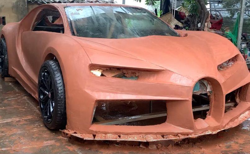 Bugatti Chiron made using clay
