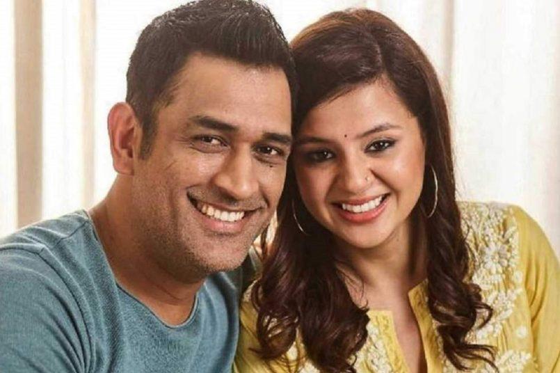 MS Dhoni and Sakshi Dhoni
