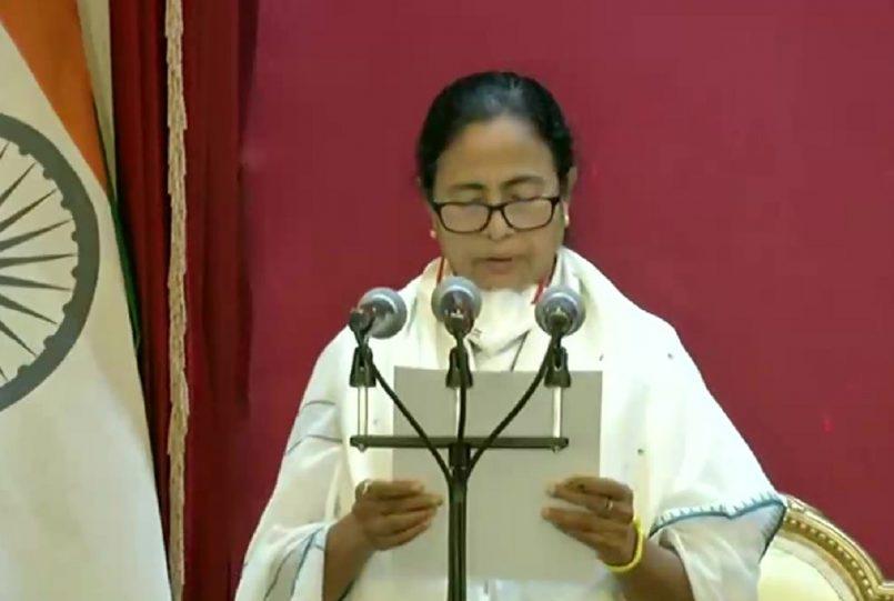 Mamata Banerjee takes oath