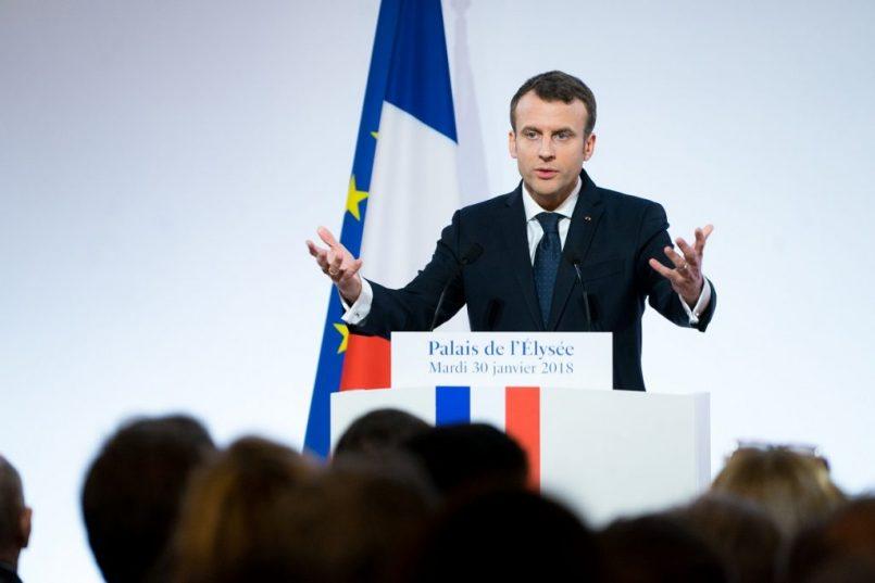 French President Emmanuel Macron slapped by man in crowd   Video