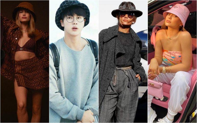 BTS' Jin, Kylie Jenner, Jennifer Lopez, And Other Celebs Style Up The 90'S Bucket Hat Trend