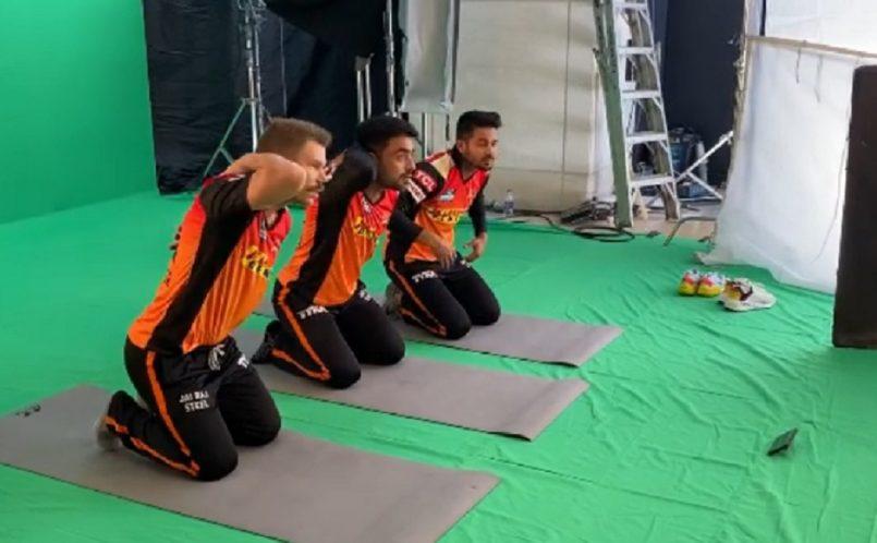 Watch: David Warner, Rashid Khan, Manish Pandey grooving for commercial