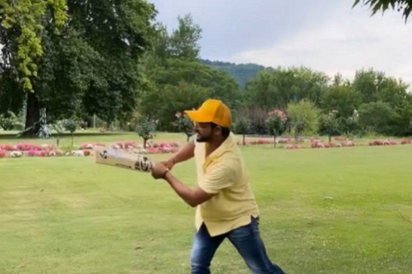 "Watch: Suresh Raina playing cricket at ""Heaven on earth"""