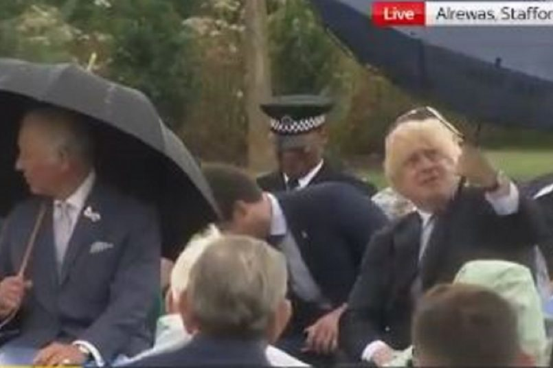 Watch: Boris Johnson trying to mend his errant umbrella, video goes viral