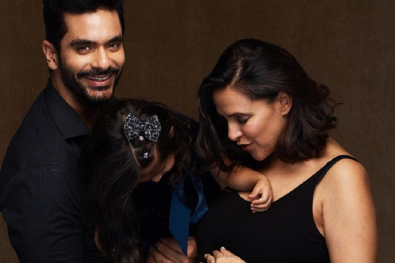 Neha Dhupia and Angad Bedi expecting second child; Check out adorable pic