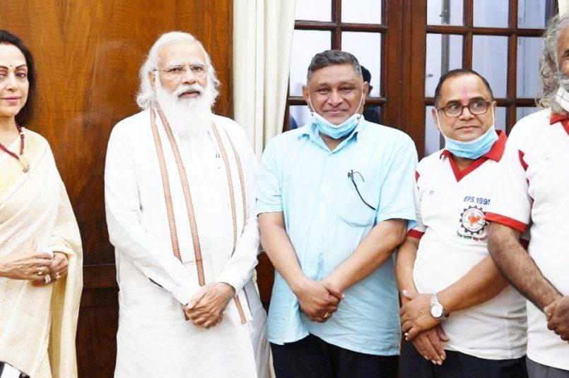 National Agitation Committee President Ashok Raut meets PM Modi