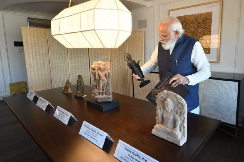 PM Modi concludes US visit, 157 artefacts, antiquities to accompany him back home: See The Pics Here