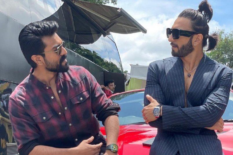 Ranveer Singh and Ram Charan bond over 4 crore Ferrari at film launch party