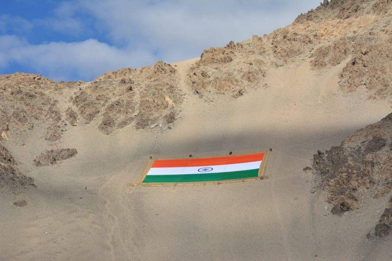world's largest Khadi national flag