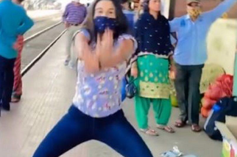 Girl grooves to 'Saat Samandar Paar' at railway station, video goes insanely viral